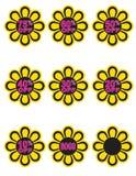 blommor av procentsatsfjädern stock illustrationer