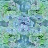 Blommor - dekorativ sammansättning vattenfärg seamless modell Använd utskrivavna material, tecken, objekt, websites, översikter,  vektor illustrationer