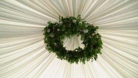Blommor dekorerat tak lager videofilmer
