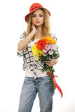blommor dig royaltyfria bilder