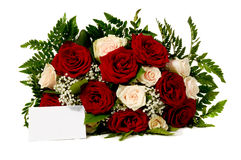 blommor för blankt kort Royaltyfria Foton