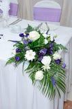 Blommor för bröllopmottagande arkivfoto