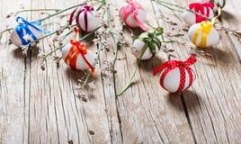blommor för filialeaster ägg Fotografering för Bildbyråer