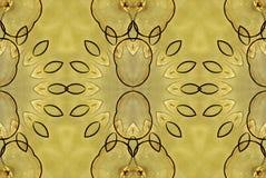 Blommor för guling för Digital konstdesign sömlösa glas- Royaltyfria Foton