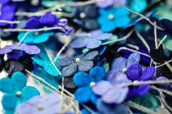 Blommor för pappers- hantverk Arkivfoto