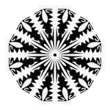 Blommor för stil för Mandalamodell utformar krökta garnering stock illustrationer