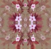 Blommor för vektormodellaprikos vektor illustrationer