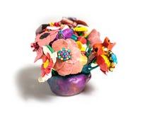 Blommor från plasticine Arkivfoto