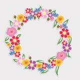 Blommor för vektorillustrationbakgrund av våren Royaltyfria Bilder