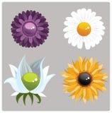 blommor fyra Arkivbilder