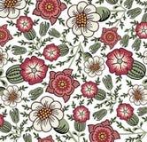 Blommor. Härlig bakgrund med blommor. royaltyfri illustrationer