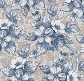 Blommor. Härlig bakgrund med en blommaorname vektor illustrationer