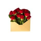 Blommor i kuvertet Royaltyfri Fotografi
