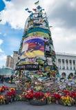 Blommor i minne i Kiev Arkivfoto