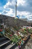 Blommor i minnet av offren av konflikten Royaltyfri Fotografi