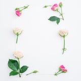 Blommor inramar och skyler över brister Lekmanna- lägenhet, bästa sikt Arkivbild
