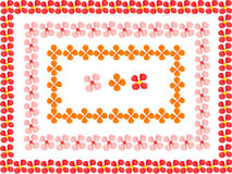Blommor inramniner gjort från barnspelrums plasticine Royaltyfria Foton