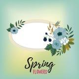 Blommor isolerade vektorn Royaltyfri Bild