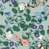 Blommor Loachesna Seamless bakgrund Arkivfoto