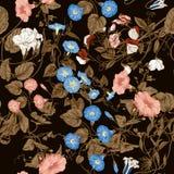 Blommor Loachesna Seamless bakgrund Royaltyfri Bild