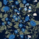 Blommor Loachesna Seamless bakgrund Arkivbild