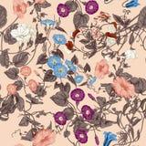Blommor Loachesna Seamless bakgrund Royaltyfria Bilder