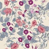 Blommor Loachesna seamless vektor för bakgrund Royaltyfri Bild