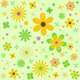 blommor mönsan den seamless fjädern Royaltyfri Foto