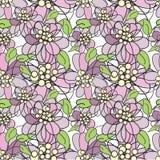 blommor mönsan den seamless violeten Royaltyfri Foto