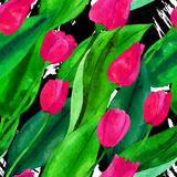 blommor mönsan seamless royaltyfri illustrationer