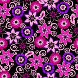 blommor mönsan seamless Royaltyfri Bild