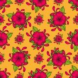 blommor mönsan seamless Royaltyfri Fotografi