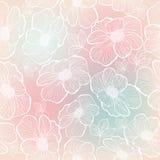 blommor mönsan seamless Fotografering för Bildbyråer
