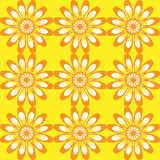 blommor mönsan seamless Gul tappningtextur Royaltyfri Bild