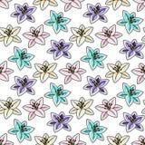 blommor mönsan seamless tropiskt stock illustrationer