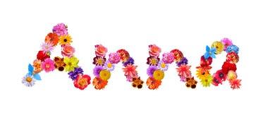 Blommor namnger Anna vektor illustrationer