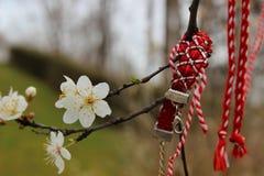 Blommor och band av minnet Royaltyfria Bilder