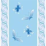 Blommor och fjärilar Arkivfoto