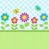 Blommor och fjärilar Royaltyfri Bild