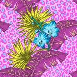 Blommor och gömma i handflatan Royaltyfria Bilder
