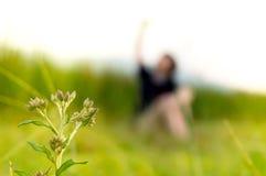 Blommor och gril Arkivfoton