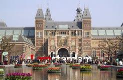 Blommor på Rijksmuseumen i Amsterdam, Holland Royaltyfria Foton