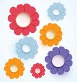 Blommor paper tillverkat stock illustrationer