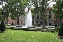 Blommor parkerar in av staden av Zagreb Royaltyfria Foton