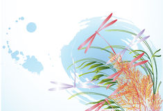 blommor plaskar royaltyfri illustrationer