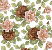 Blommor. Rosor. Härlig bakgrund. Royaltyfri Fotografi