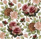 Blommor. Rosor. Härlig bakgrund. royaltyfri illustrationer