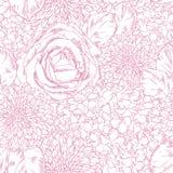 Blommor seamless modell Arkivbilder