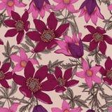 Blommor seamless vektor för bakgrund vektor illustrationer