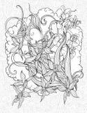 Blommor, sidor och moln Arkivfoton